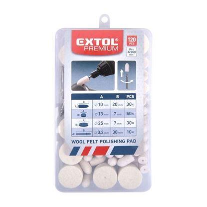Obrázok pre výrobcu EXTOL sada mikro filcových kotúčov 120ks 903760