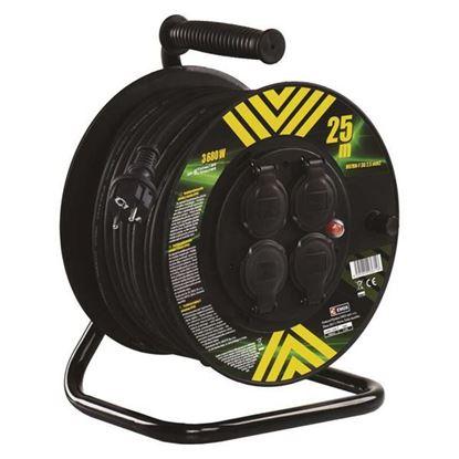 Obrázok pre výrobcu EMOS Gumový predlžovací kábel na bubne – 4 zásuvky, 25m, 2,5mm2 P084253