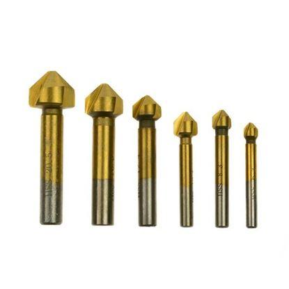 Obrázok pre výrobcu GEKO Sada záhlbnikov do kovu, 6-dielna, 6,3 - 20,5 mm G38520